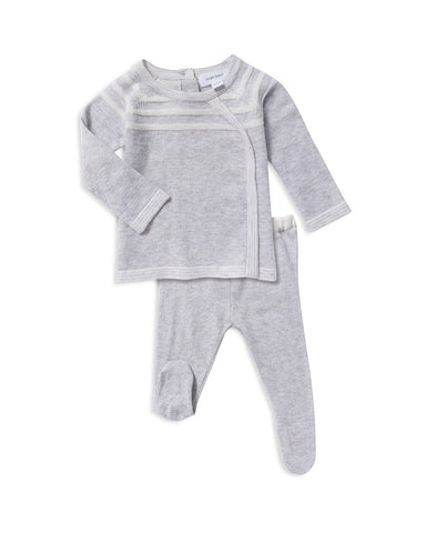 Knit Take Me Home 3 Piece Set in Pale Gray