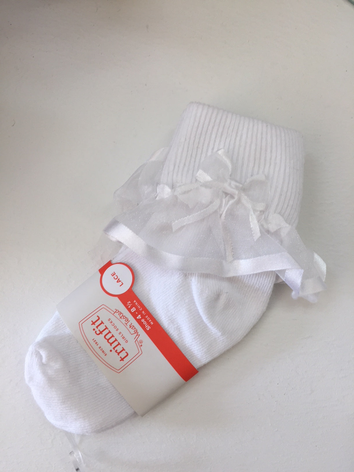 Girls Sheer Ribbon Sock