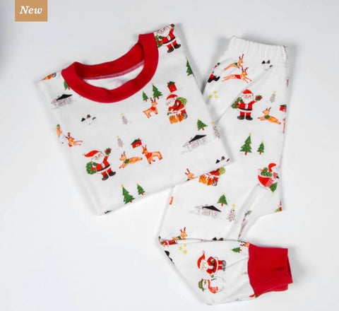 Organic Cotton Dear Santa Holiday Pajamas