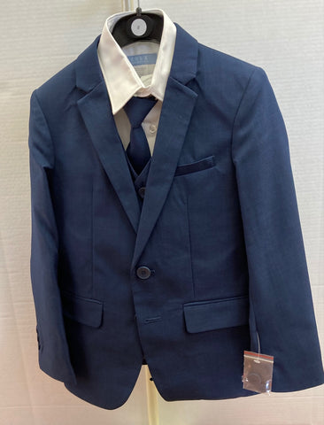 Boys Slim Fit Suit in Blue