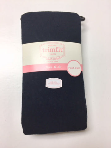 Girls Tights - Flat Knit in Navy Blue