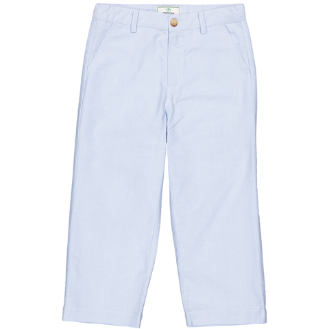 Gavin Pant in Pale Blue Oxford