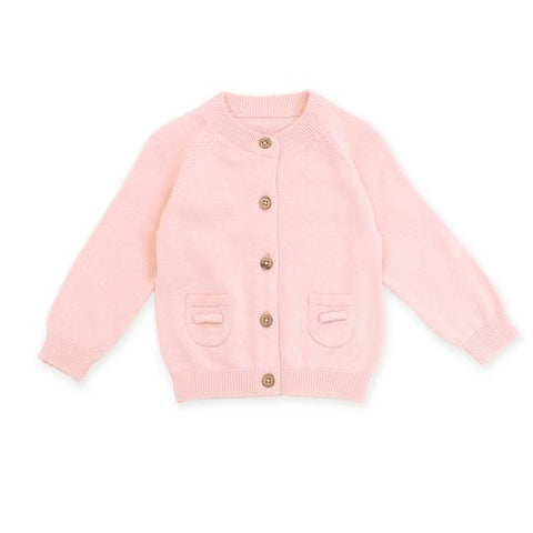 Organic Knit Cardigan in Blush