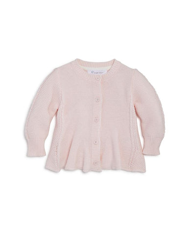 Seed Stitch Flared Cardigan in Pink