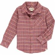 Boys Red Plaid Button Down Shirt