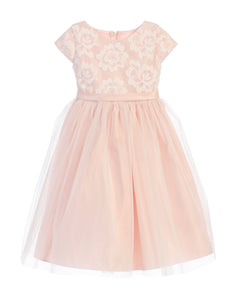 Delicate Flower Tulle Party Dress by Sweet Kids