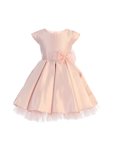 Classic Bow Party Dress in Petal Pink