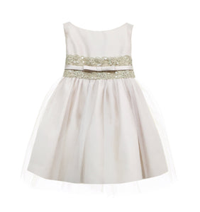 Metallic Lace Tulle Party Dress by Sweet Kids