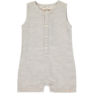 Baby Boy Linen Romper in Sandy