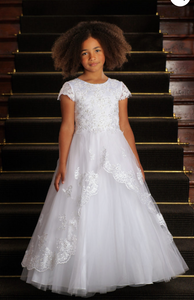 Communion Dress Style 4022 Tea Length