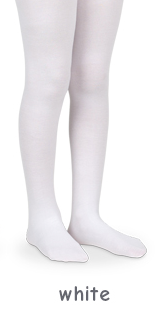 Girls Pima Cotton Tights in White