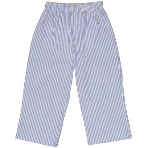 Myles Pant in Blue Seersucker