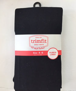 Girls Tights - Thermal in Black or Navy Blue