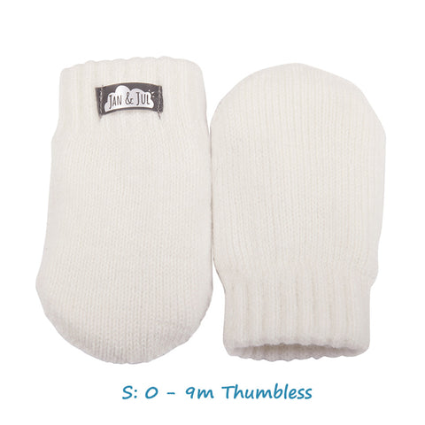 Baby Knit Mittens in Cream
