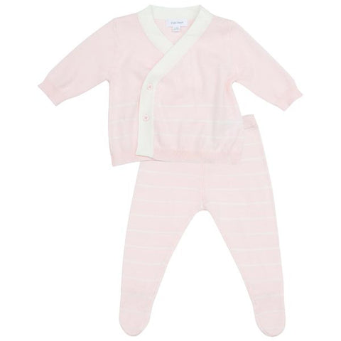 Euro Knit Take Me Home 3 Piece Set in Contemporary Pink Stripe