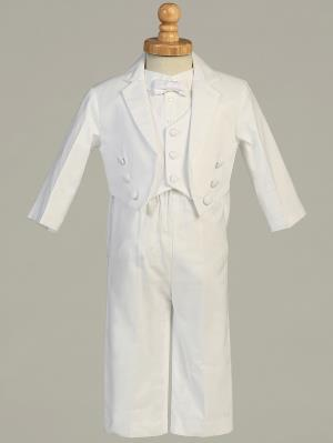 Boys Cotton Christening Tuxedo Set