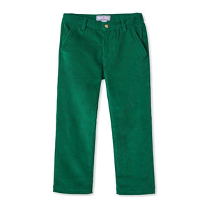 Gavin Pant Wide Wale Corduroy in Cadium Green