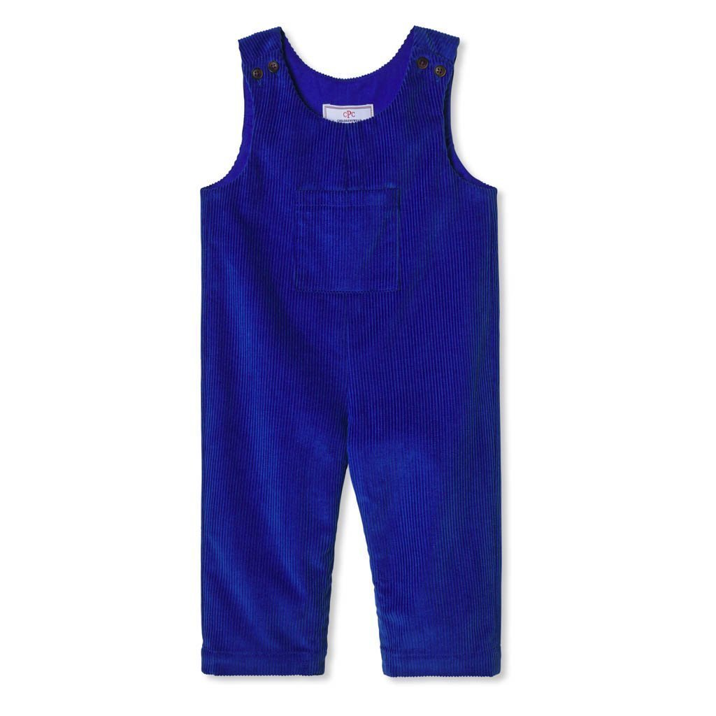 Tucker Wide Wale Corduroy Overall in Bright Blue