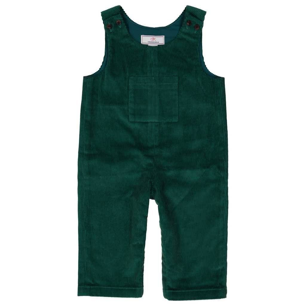 Tucker Wide Wale Corduroy Overall in Cadium Green