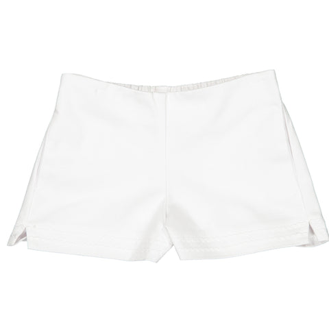 Girls Harper Short in Pique White