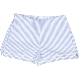 Girls Harper Short in Blue Seersucker