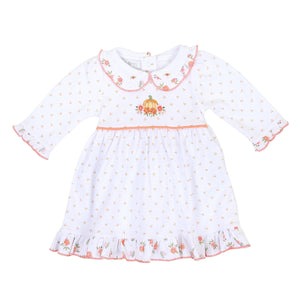 Autumn's Classic Embroidered Dress Set