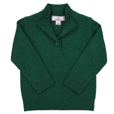 Boys Skier Sweater in Green