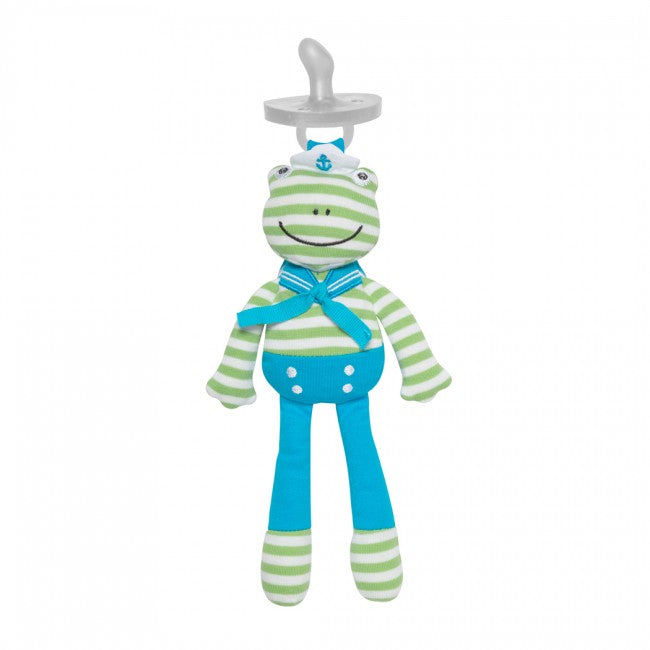 Organic Pacifier Buddies - Skippy the Frog