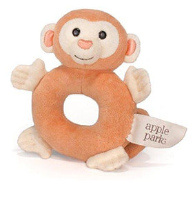 Soft Teething Toy Monkey Rattle by Apple Park