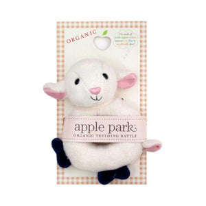 Soft Teething Toy Lamby Rattle by Apple Park