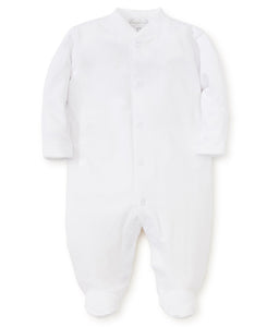 Pima Cotton White Snap Footie