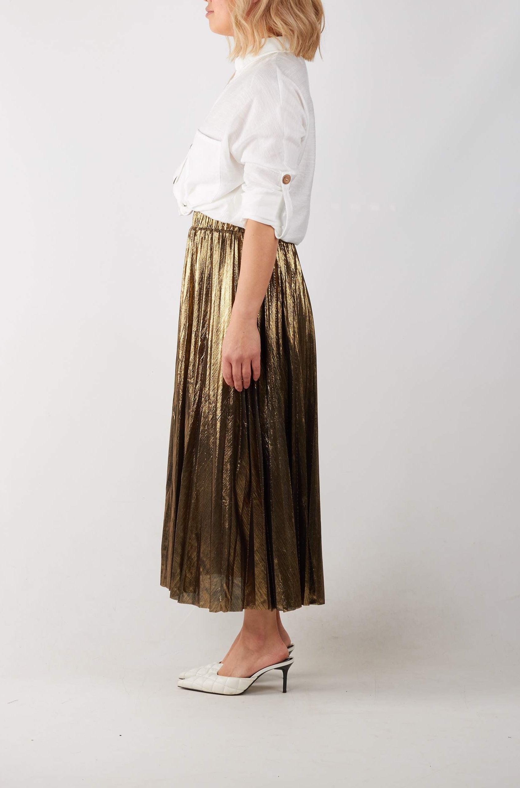 LUNAR SKIRT- GOLD
