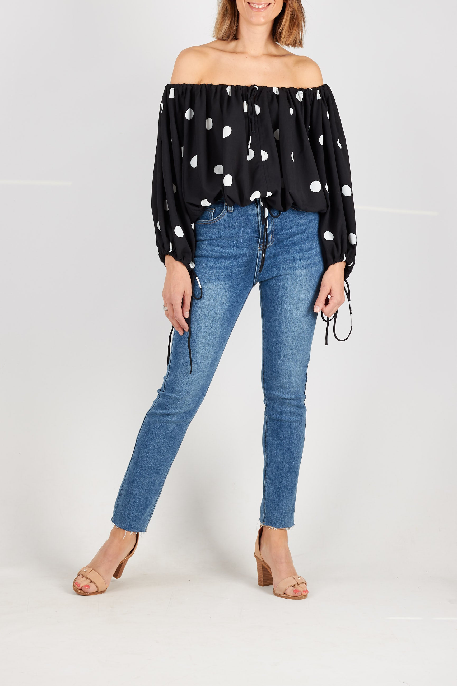 BELITZ BLOUSE- BLACK
