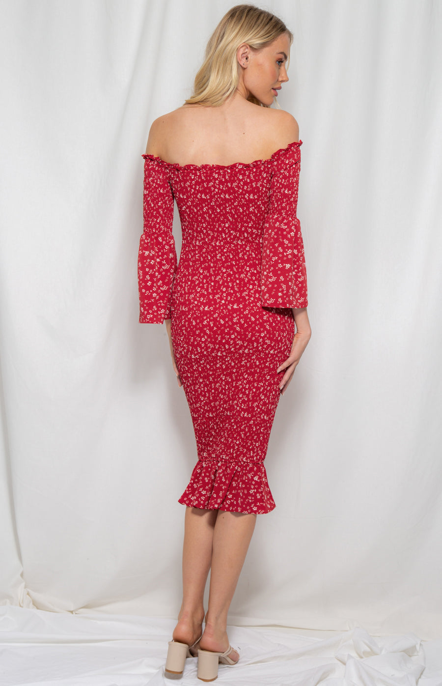 DELILAH DRESS- RED
