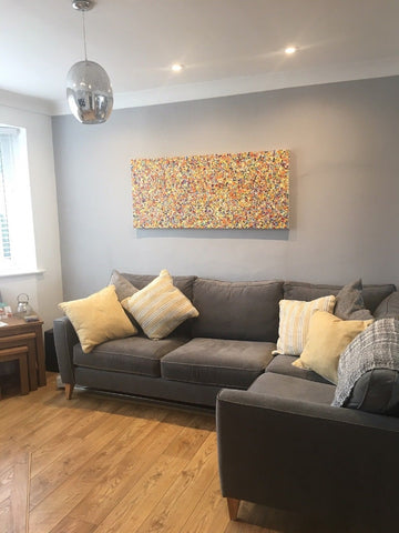 Large dot and spot painting in customers house
