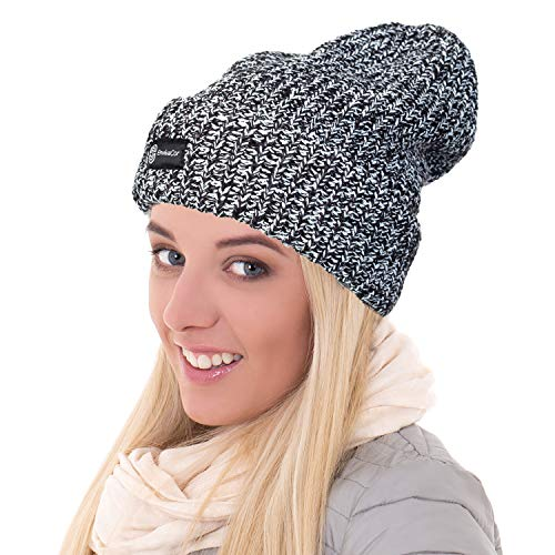 "Envivacor Onyx Chunky Knit Beanie Trendy Winter Hats | 100% Acrylic Beanie for Men & Women | 12"" Knit Hat - EnvivaCor"