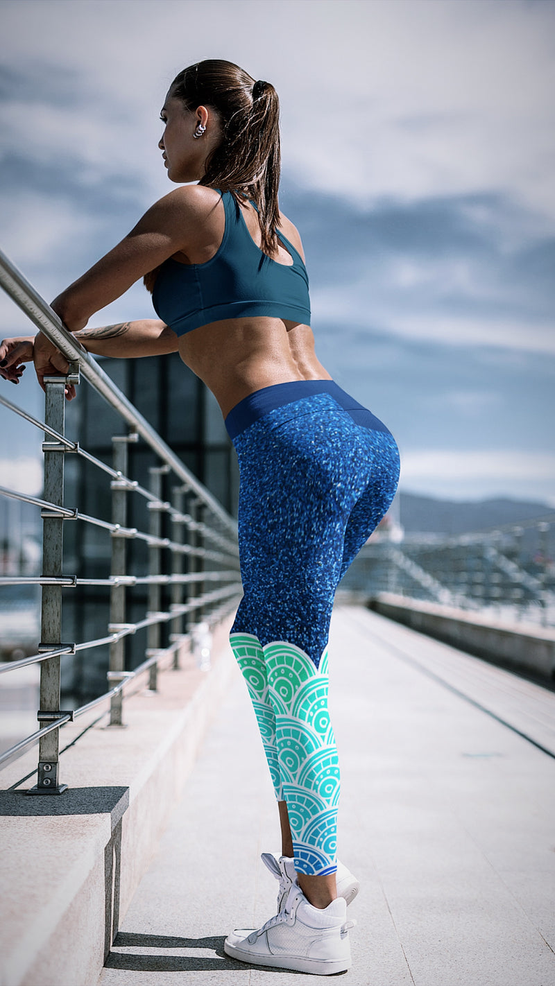 Premium Yoga Leggings - Sea Queen - EnvivaCor