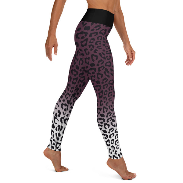 Premium Yoga Leggings - Leopard Purple Chakra