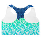 Premium Padded Sports Bra  -Sea Queen - EnvivaCor