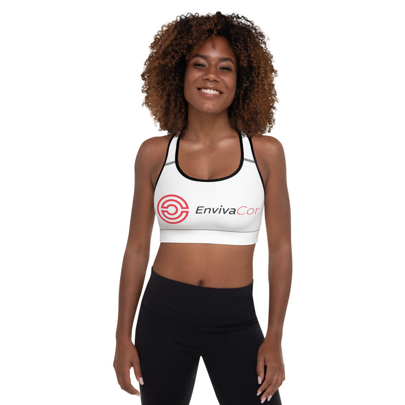 White Padded Sports Bra-  Winter