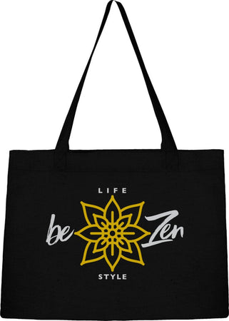 Sac Cabas Shopping Stanley & Stella griffé « Life Style Be Zen » - Black Édition