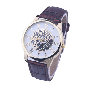 "38mm ""MALLOOM"" Quarz Herren Skelett Armbanduhr"