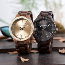 "Laden Sie das Bild in den Galerie-Viewer, 45mm ""BOBO BIRD"" Quarz Damen Holz Armbanduhr"