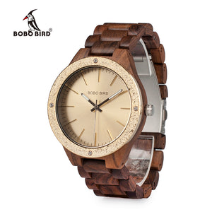 "45mm ""BOBO BIRD"" Quarz Damen Holz Armbanduhr"