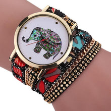 "Laden Sie das Bild in den Galerie-Viewer, 35mm ""Elefant"" Quarz Damen Armbanduhr inkl. Armband"