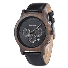 "Laden Sie das Bild in den Galerie-Viewer, 42.7mm ""BOBO BIRD"" Quarz Herren Holz Chronograph"