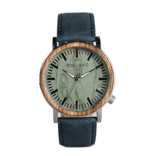 "Laden Sie das Bild in den Galerie-Viewer, 42mm ""BOBO BIRD"" Quarz Unisex Herren Holzuhr"