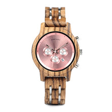"Laden Sie das Bild in den Galerie-Viewer, 40mm ""BOBO BIRD"" Quarz Damen Holz Chronograph"