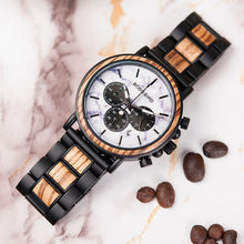 "Laden Sie das Bild in den Galerie-Viewer, 44.2mm ""BOBO BIRD"" Herren Holz Chronograph"