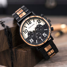 "Laden Sie das Bild in den Galerie-Viewer, 44.2mm ""BOBO BIRD"" Quarz Herren Holz Chronograph"